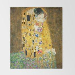 Gustav Klimt The Kiss Throw Blanket