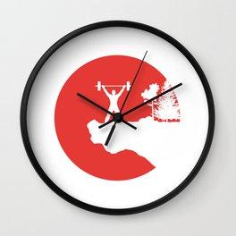 Weightlifting T-Shirt Deadlift Fitness Gym Design  Wall Clock