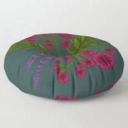 Floral Pattern Floor Pillow