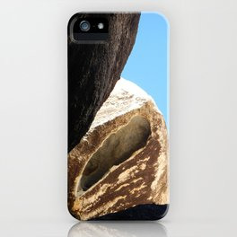 Rock formation above iPhone Case