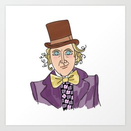 Sweet Gene - Willy Wonka Art Print