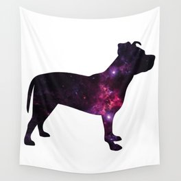 Eleven: Pitbull Space Silhouette Wall Tapestry
