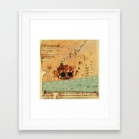 nautical Framed Art Prints featuring Nautical by Ingrid Castile