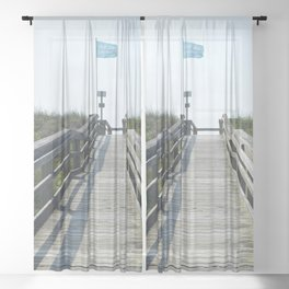 beach access Sheer Curtain