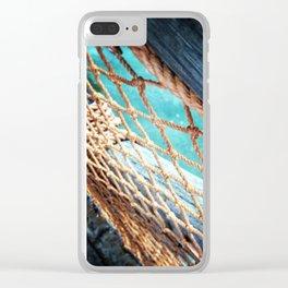 Beach Town Clear iPhone Case