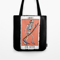 tarot Tote Bags featuring Tarot Card by BlandinePannequin