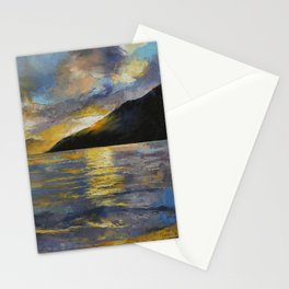 New Zealand Sunset Stationery Cards