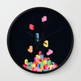 Tetrisometric Wall Clock