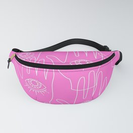 Pink Retro Hands Fanny Pack