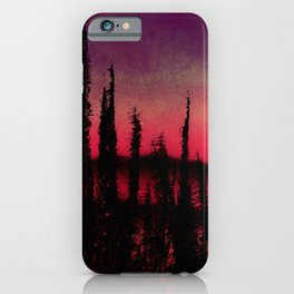 Pines with Pink and Purple iPhone Case