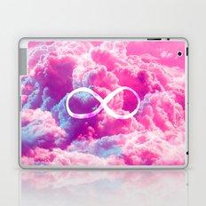 Girly Infinity Symbol Bright Pink Clouds Sky Laptop & iPad Skin