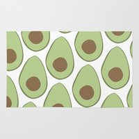 avocado Area & Throw Rugs featuring Avocado by LEIGH ANNE BRADER