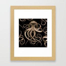 Bronze Kraken Framed Art Print