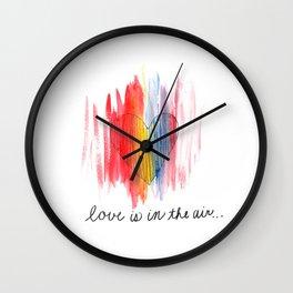colored love Wall Clock