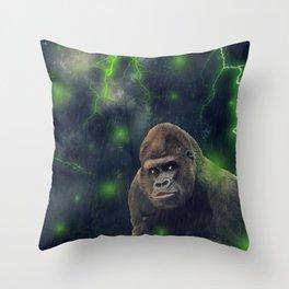 ThunderStorm Gorilla by GEN Z Throw Pillow