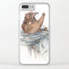 Surprise Salmon Clear iPhone Case