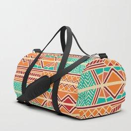 Tribal ethnic geometric pattern 027 Duffle Bag