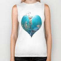 the little mermaid Biker Tanks featuring Little Mermaid by Simone Gatterwe