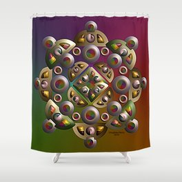 Ornament, 2340g Shower Curtain