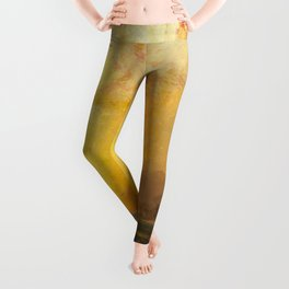 Golden Sunset and Sky over a Troubled Sea landscape painting by Thomas Moran Leggings