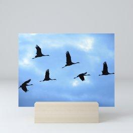 Welcome back! Cranes in flight #decor #society6 #buyart Mini Art Print