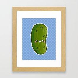 Kawaii Pickle Framed Art Print