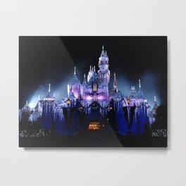 Sleeping Beauty's Winter Castle (Night-time, no 1) Metal Print