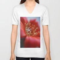 cacti V-neck T-shirts featuring Cacti Flower by Brian Raggatt