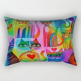 Pussies Galore  Rectangular Pillow