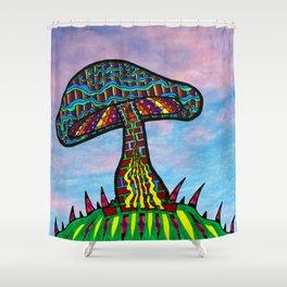 Mushroom Hill Shower Curtain