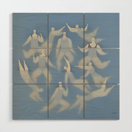 The swimmers Wood Wall Art