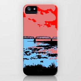 Railway bridge Haparanda/Tornio color iPhone Case