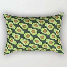 Spot-o-Cado - Dark Green Rectangular Pillow