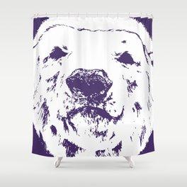 Frank the Polar bear (Colour edits) Shower Curtain