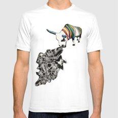 COW Eating a Dress Mens Fitted Tee White MEDIUM