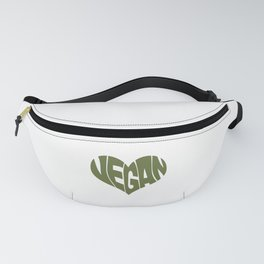 Vegan Saying Heart Shape Design / Promote Plant Based Diet design Fanny Pack
