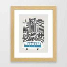 Miami Cityscape Framed Art Print