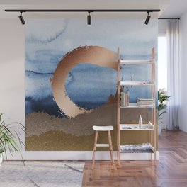 Inspiration: Gold, Copper And Blue Wall Mural