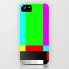 SMPTE Television TV Color Bars iPhone Case