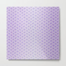 Purple Mermaid Scales - Mermaid Life Metal Print