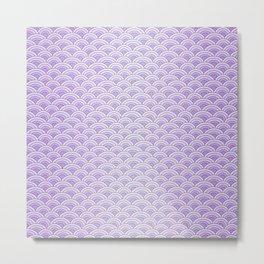 Purple Mermaid Scales - Mermaid Life Metal Print