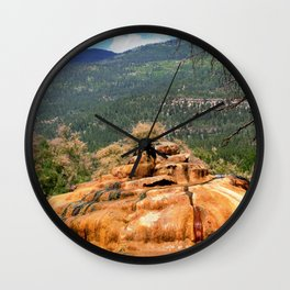 Pinkerton Mineral Springs Wall Clock