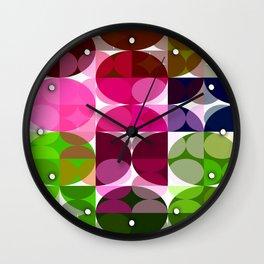 Rosas Moradas 1 Abstract Circles 3 Wall Clock