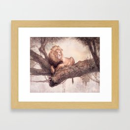 Up a Tree Framed Art Print