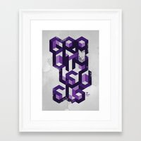 deadmau5 Framed Art Prints featuring Gravity Levels - Geometry by Sitchko Igor
