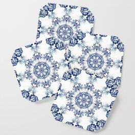 blue garden mandala Coaster