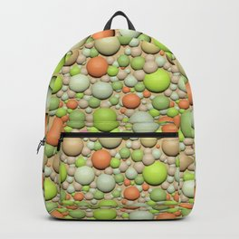 Multi-colored balls. Backpack