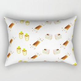 cherry blssom and neon green cherry cupcakes Rectangular Pillow