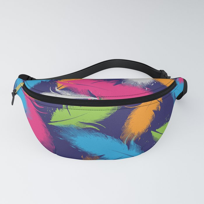 Bright Falling Feathers Fanny Pack
