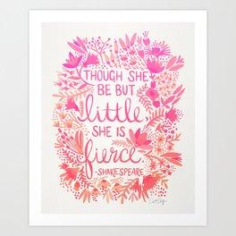 Little & Fierce – Pink Ombré Art Print